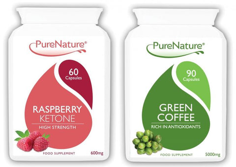 Raspberry Ketones 600mg and Green Coffee Bean Combo