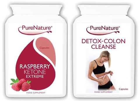 Raspberry Ketones Extreme plus Detox Colon Cleanse Combo