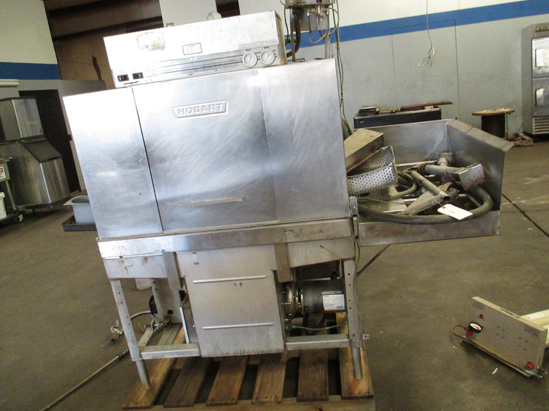Hobart Stainless Steel Commercial Dish Washer Pass Through Side Load - Business Equipment World