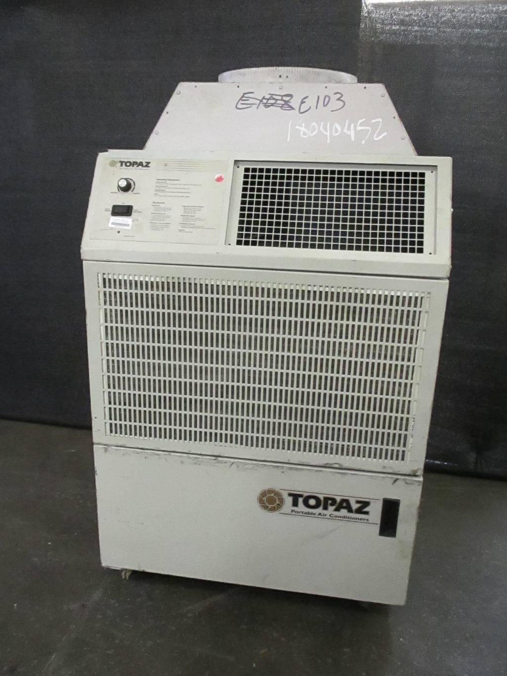 Topaz TZ-18A Portable HVAC AC A/C Air Conditioner Unit 115V 17600 Btu - Business Equipment World