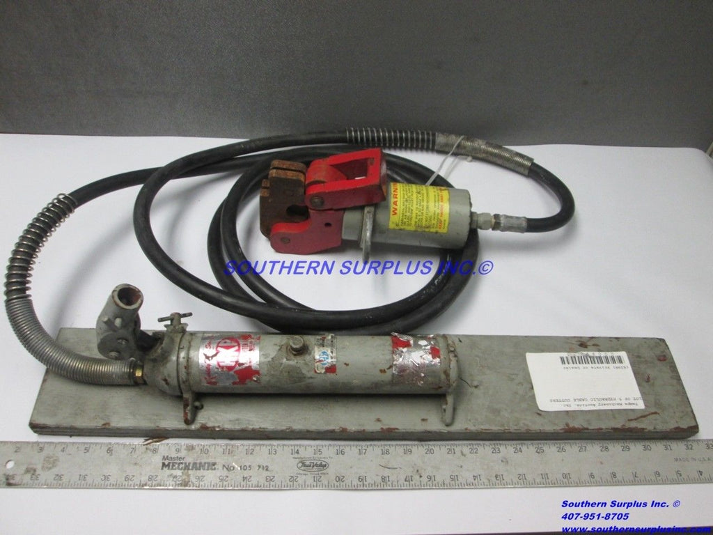 HK Porter WRC125 Hydraulic Wire Rope Cutter Assy & 56082 BU0833 Hand Pump 698130 - Business Equipment World