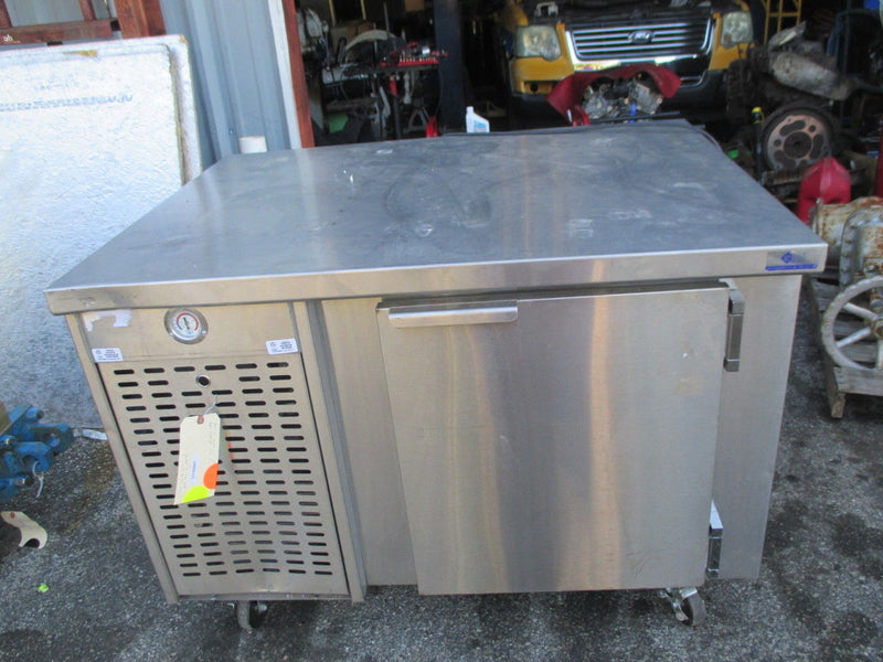 "EMI 12-BPT-10-66 48"" Stainless Steel Single Door Prep Table w/ Cooler - Business Equipment World"
