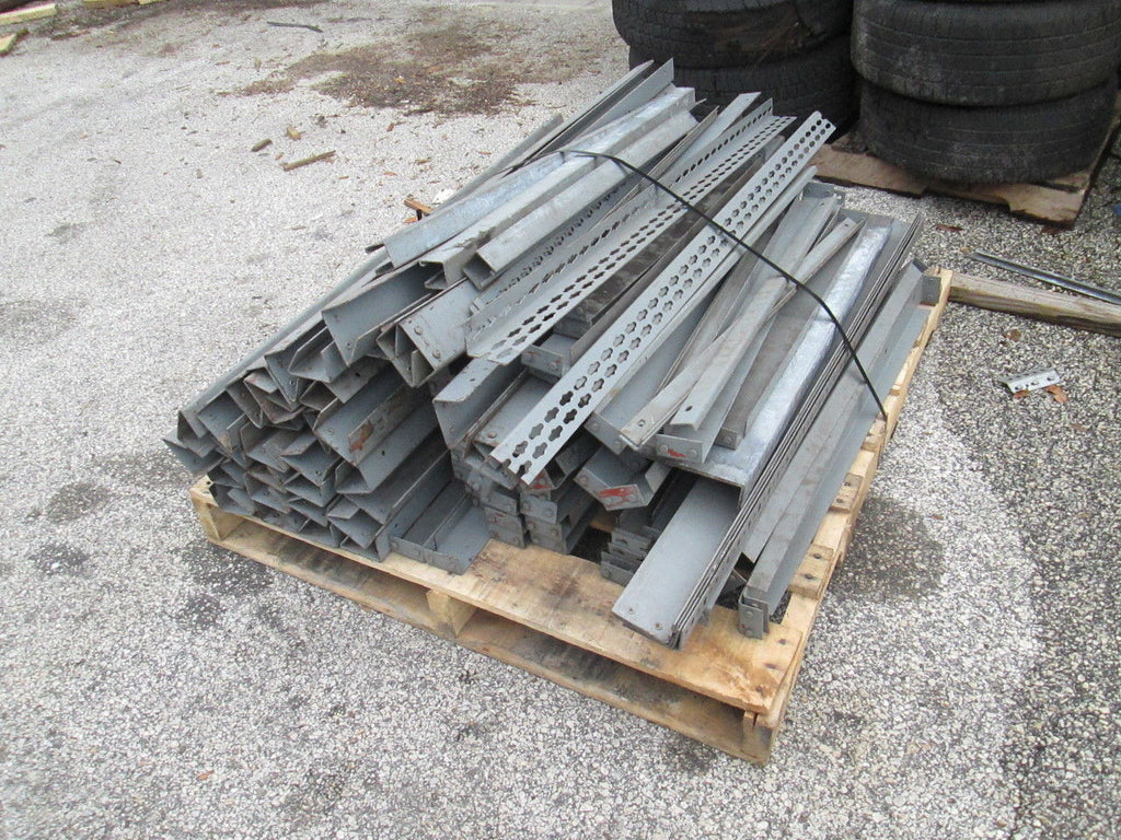 "Pallet of Metal Mezzanine Horizontal Pieces Shelving Flooring 48"" & 36"" - Business Equipment World"
