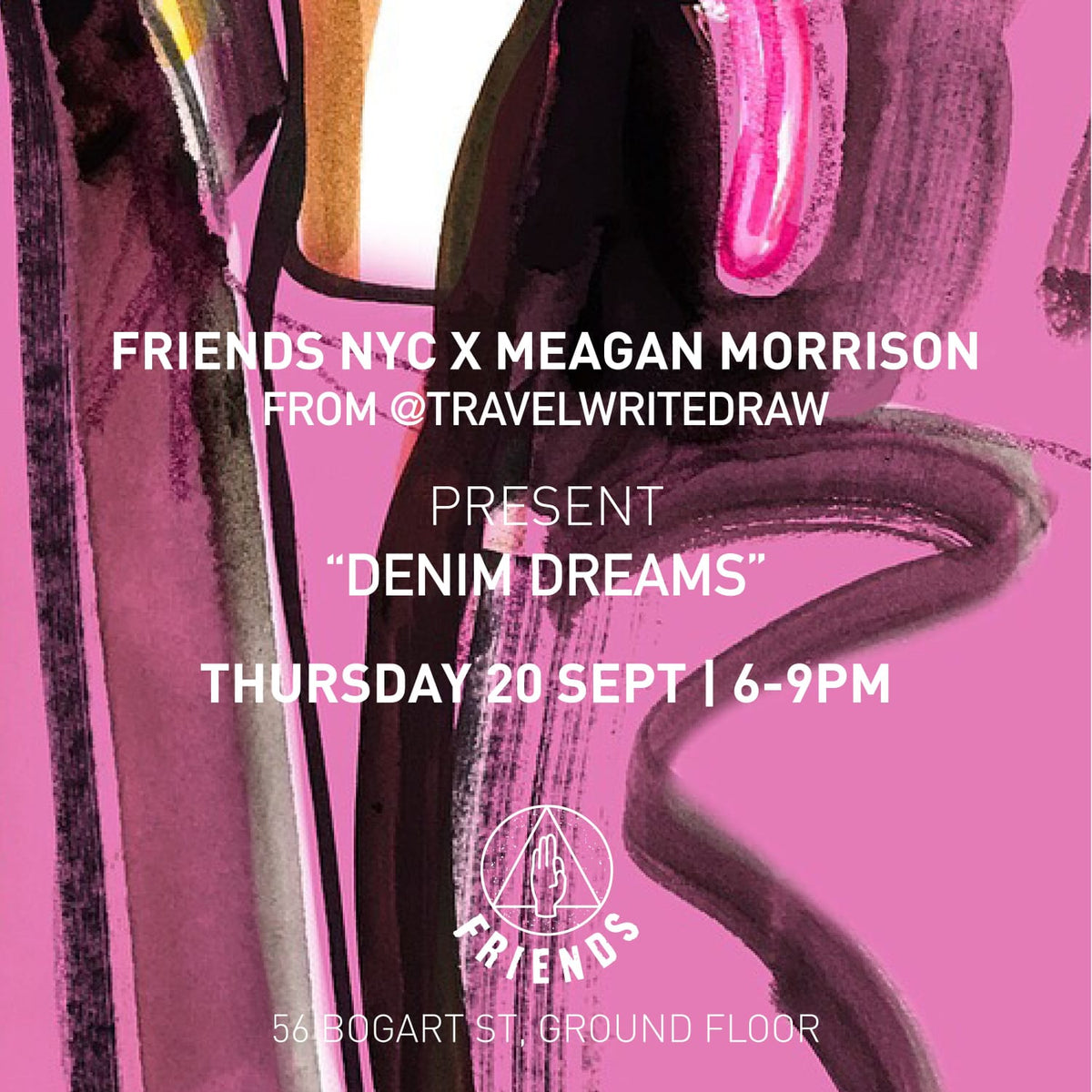 Meagan Morrison @TravelWriteDraw x Friends NYC