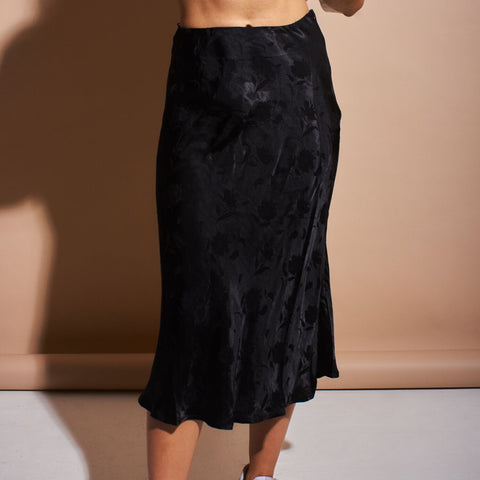Brocade Satin Skirt