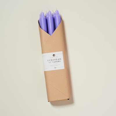 12 Inch Taper Candles - Lilac Candle - Stick - Candles -