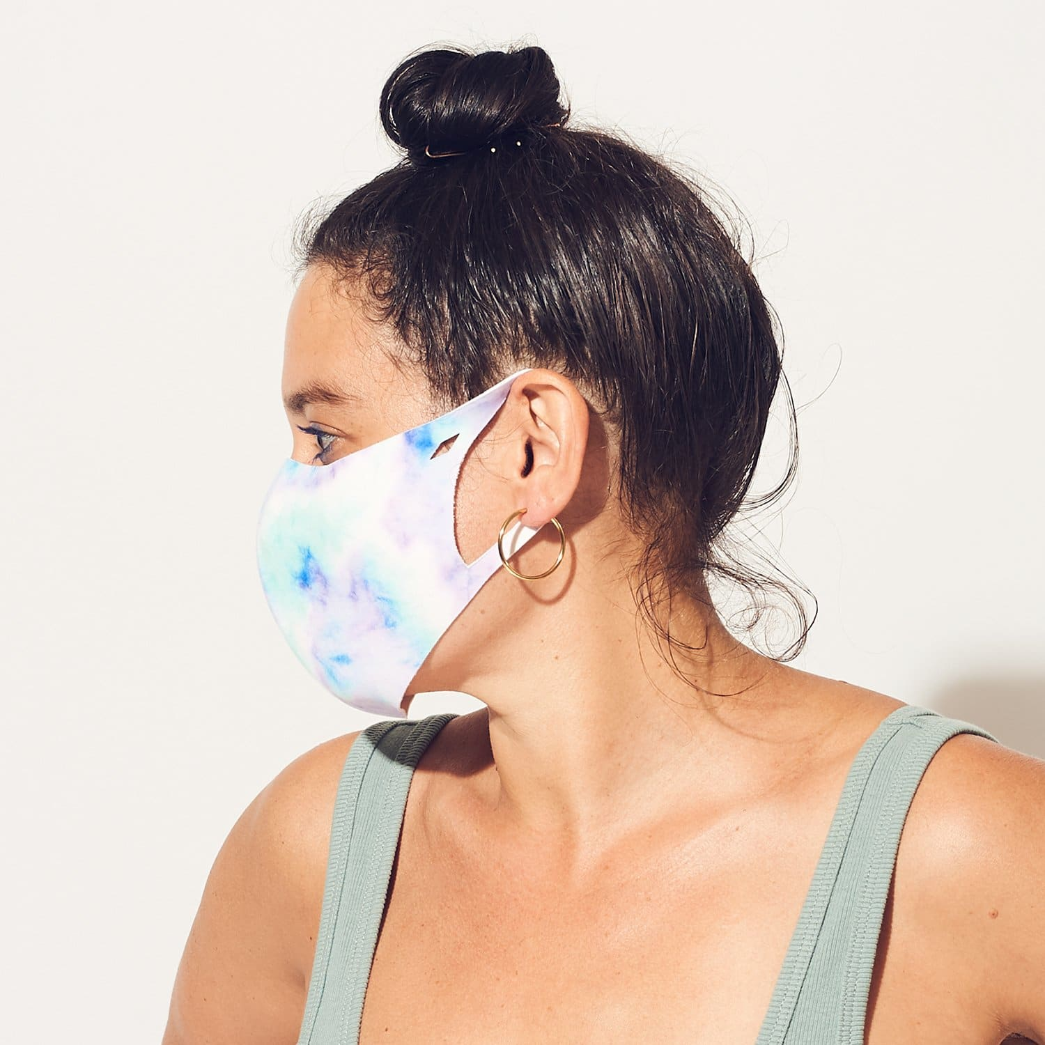 Antibacterial Mask - Purple Tie Dye Coronavirus - Face Mask