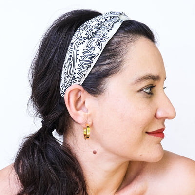 Bandana Headband - White