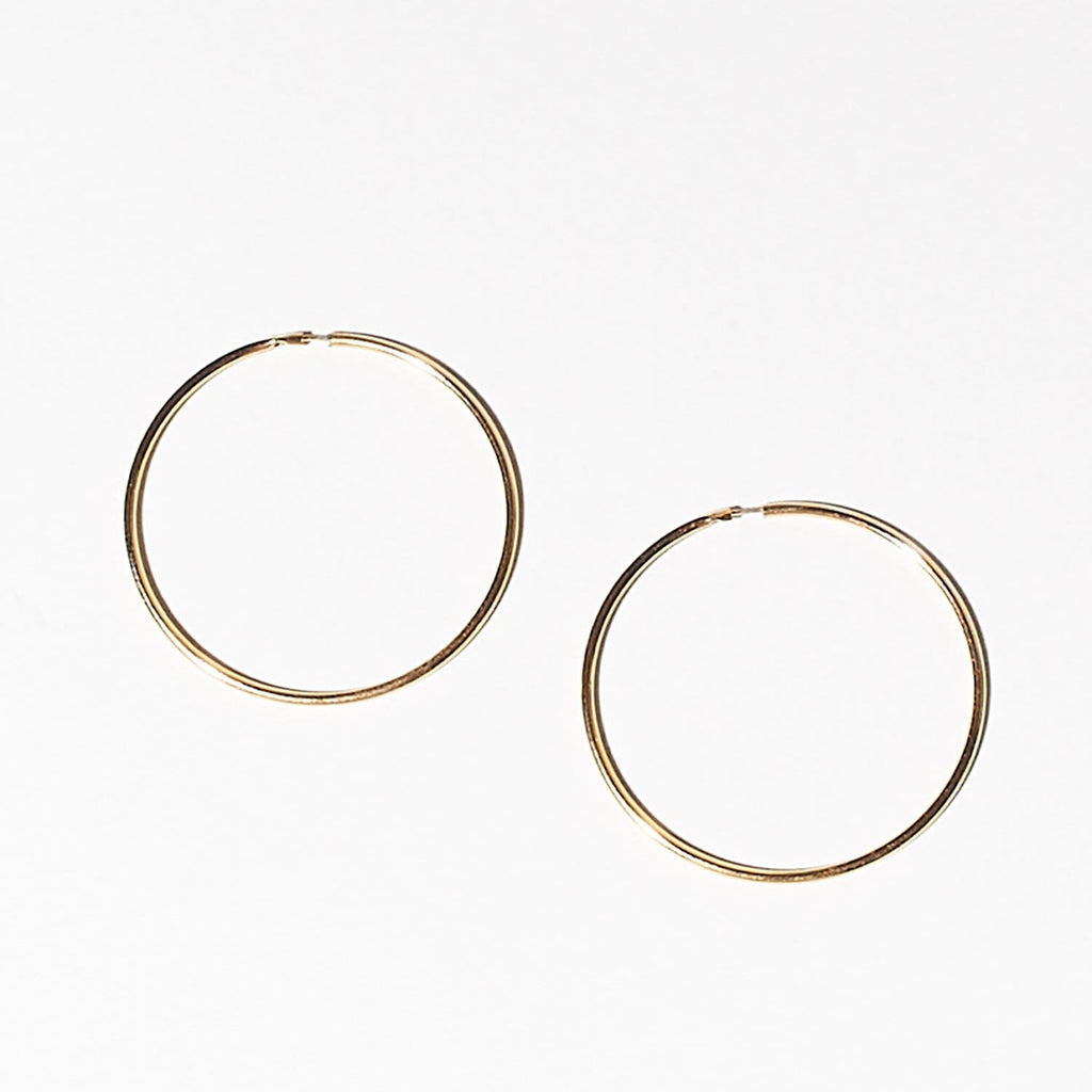 Basic Hoop - Gold Classic Jewelry, Gold Hoops, Hoops