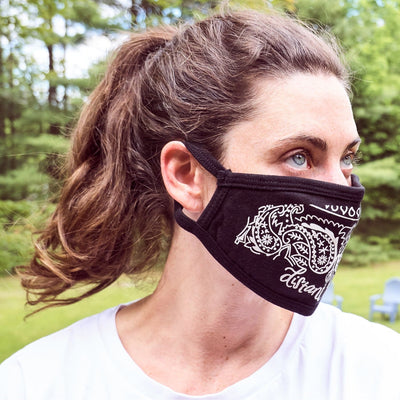 Black Bandana Face Mask Bandana, Cotton, Covid, Distant