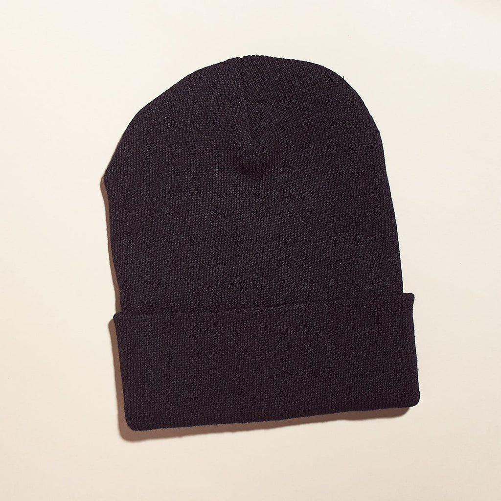 Black Beanie Basic Beanie - Basics - Black Hat - Vif Acc