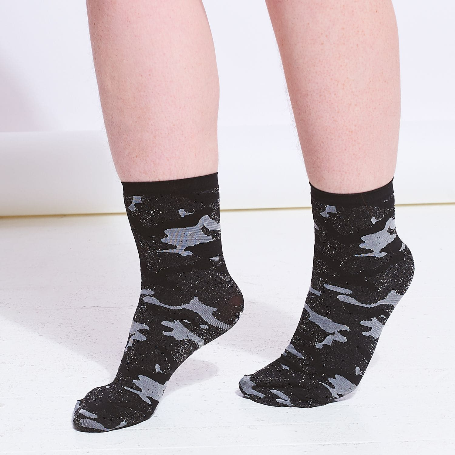 Camo Anklet Socks Ankle Socks, Anklet Length, Boot Sock,