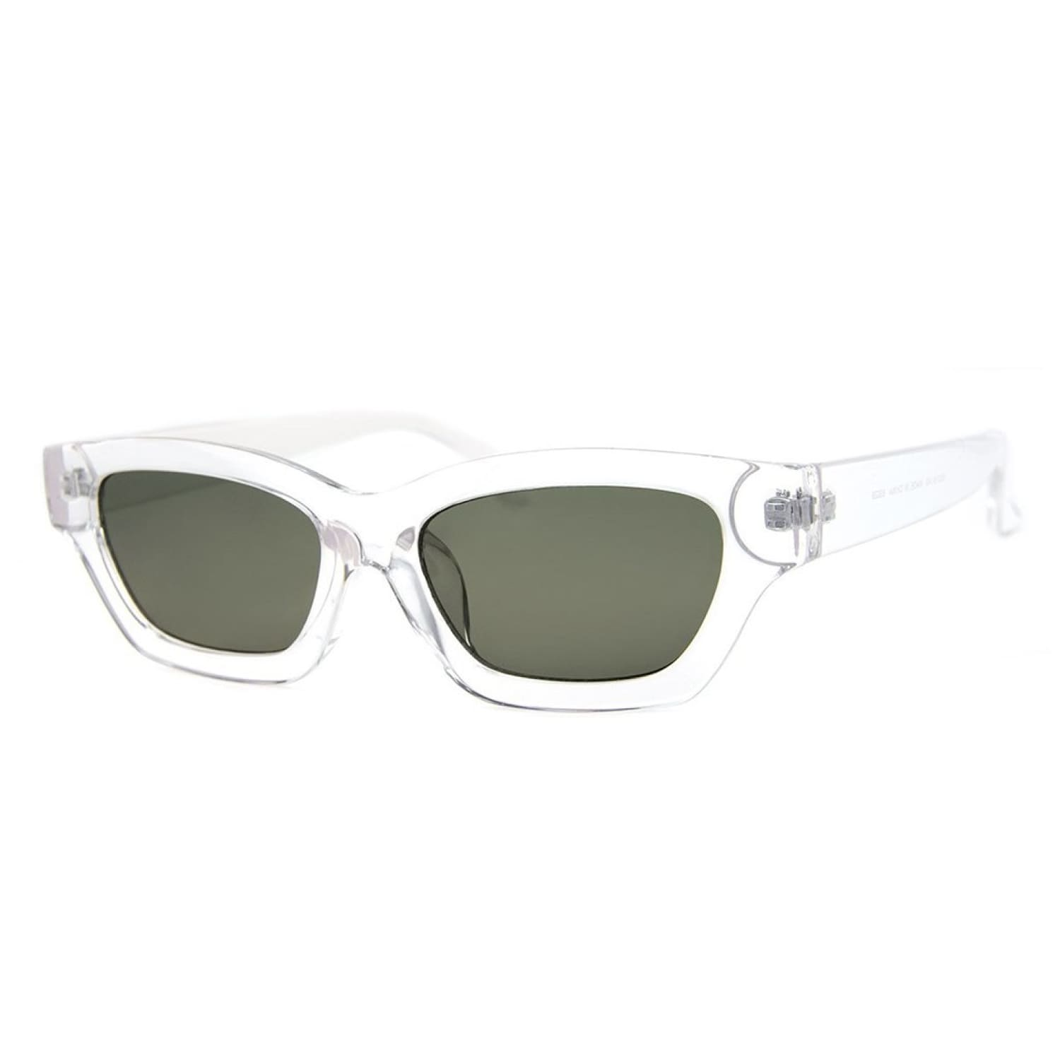 Clear Rounded Rectangle Sunglasses Accessories, Rounded