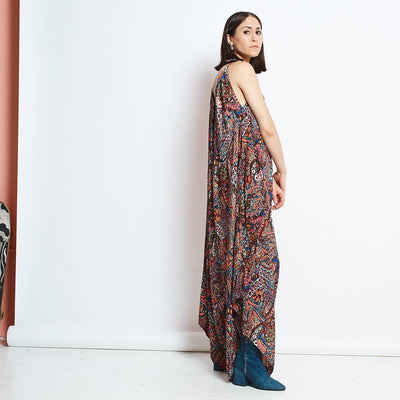 Convertible Jumpsuit - Pink Paisley Colorful Jumpsuit,