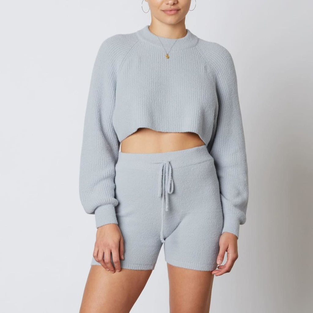 Crop Sweater Cold Weather - Crop - top - Cropped - Fleece