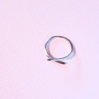 Curved Line Ring Silver