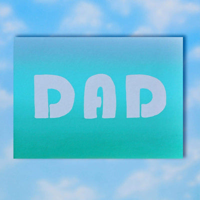 Dad Gradient Father's Day Greeting Card
