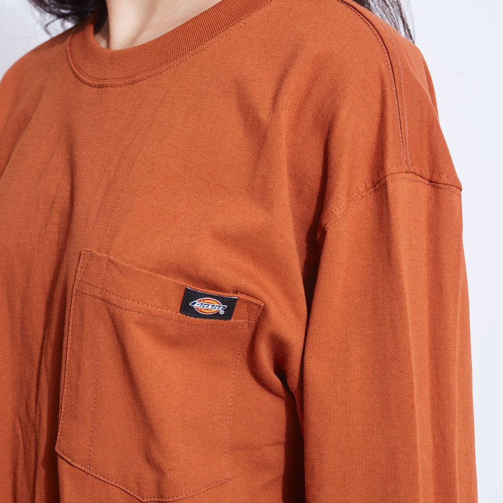 Dickies Heavy Crew Long Sleeve Tee - Gingerbread Burnt