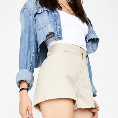 Dickies High Rise Frayed Short
