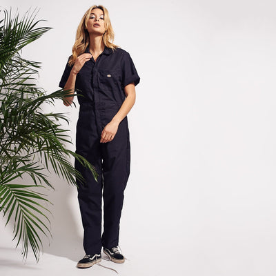 Dickies Short Sleeve Coverall - Black