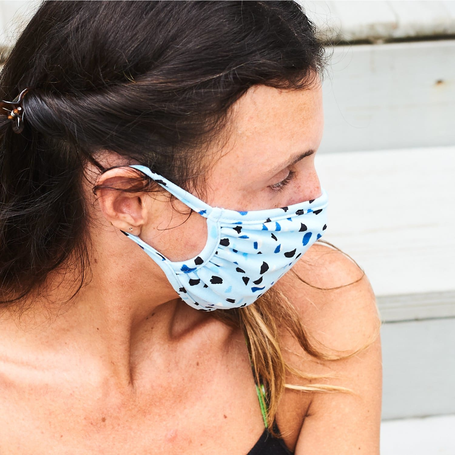 Dotted Face Mask Blue - Dots - Face Mask - Safety