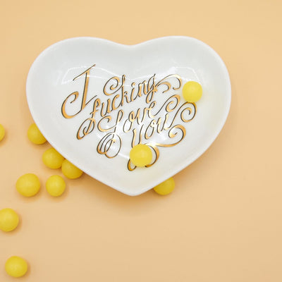I Effing Love you Dish Ceramic Dish, Friends Nyc,