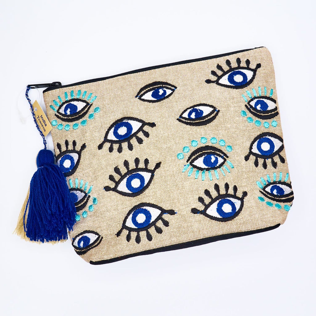 Evil Eye Cosmetic Bag Bag with Zipper, Cosmetic Bag, Evil