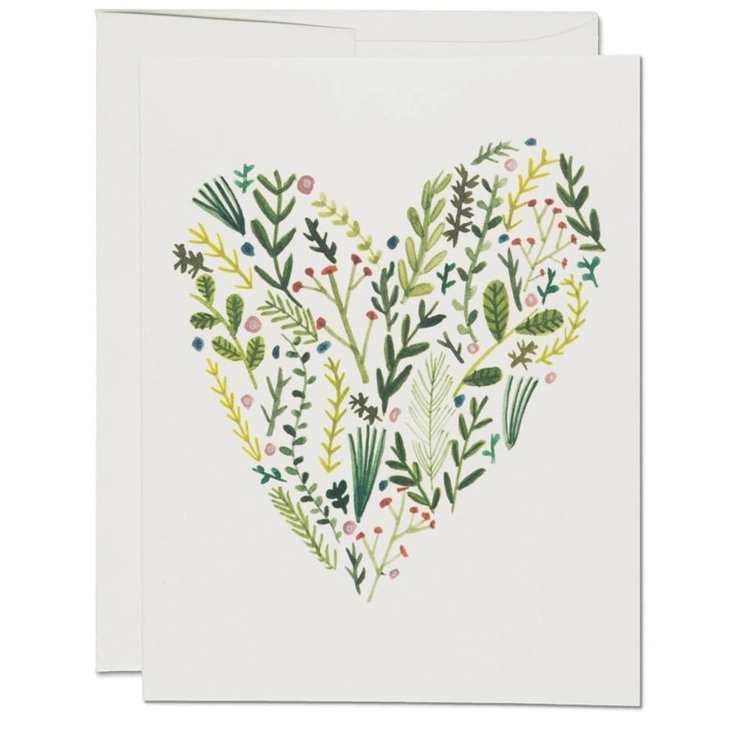 Floral Heart Greeting Card Floral - Heart - Illustrated -