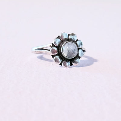 Flower Ring Flower, Flower Ring, Genuine Stone, Jewelry,