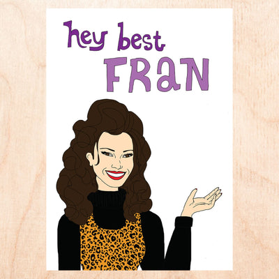 Best Fran Greeting Card