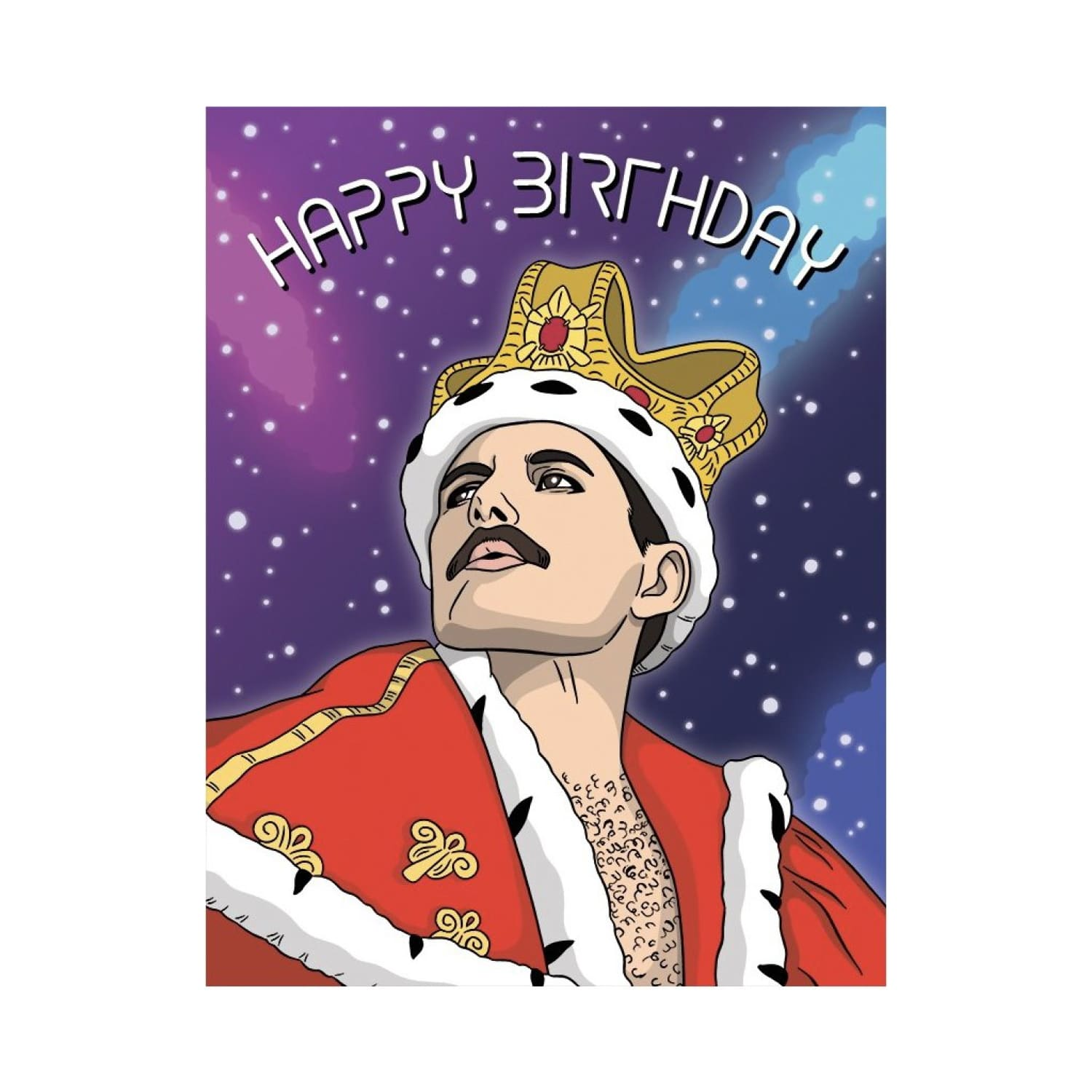 Freddie Mercury Birthday Card Birthday, Birthday Card,