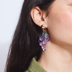 Gems of Grapes Earrings Crystal Earrings, Dangly Earring,