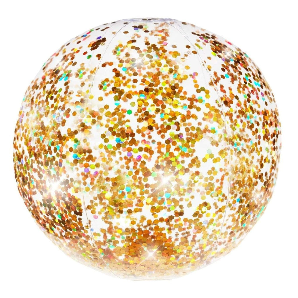 Gold Glitter Beach Ball Beach Ball, Glitter Pool, Pool