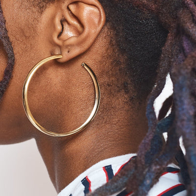 Gold Plated Super Hoops