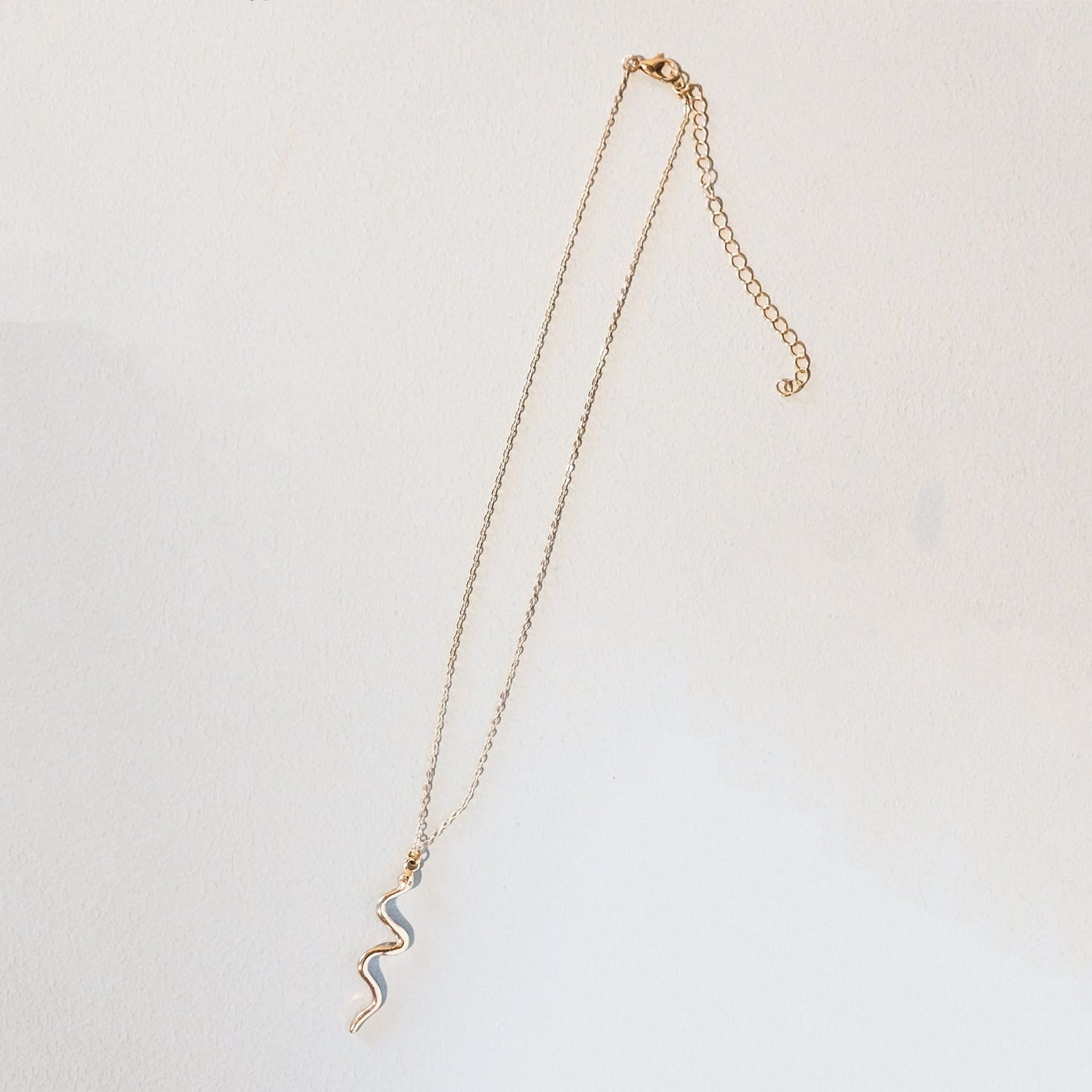 Gold Snake Necklace $20 or Less, Gold, Jewelry, Misc.,
