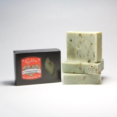 Goldie's Bar Soap - Green & Gold