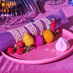 Handwoven Fruit Napkin Rings Belart - Cherries - Cherry -
