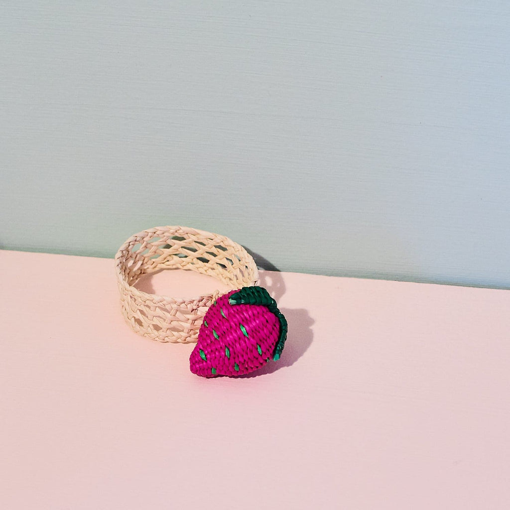 Handwoven Fruit Napkin Rings Belart - Cooking - Kitchen -