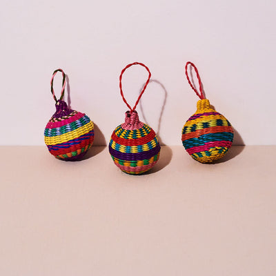 Handwoven Small Ball Ornament