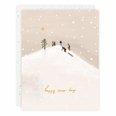 Happy Snow Days New Year Holiday Card