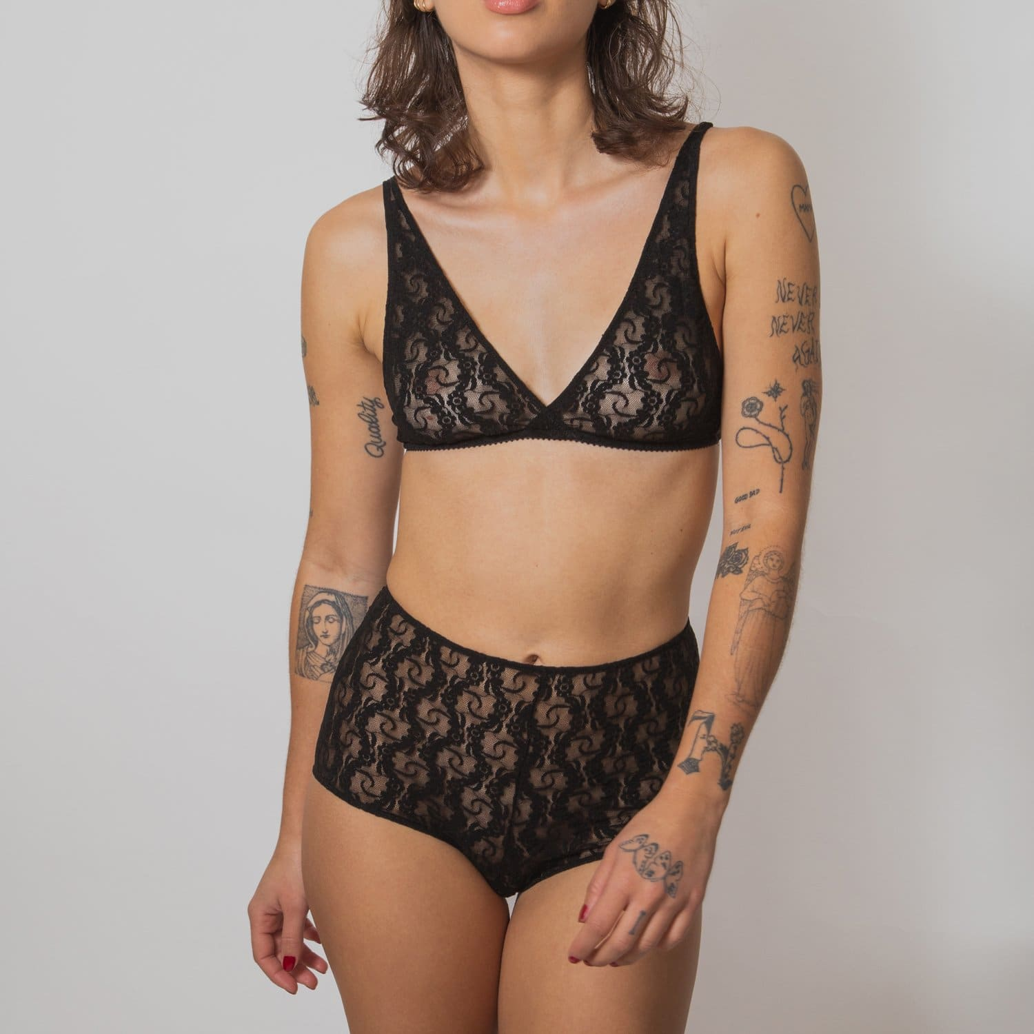 Only Hearts Lace Boy Shorts Black - Bra - Bralette - keep it