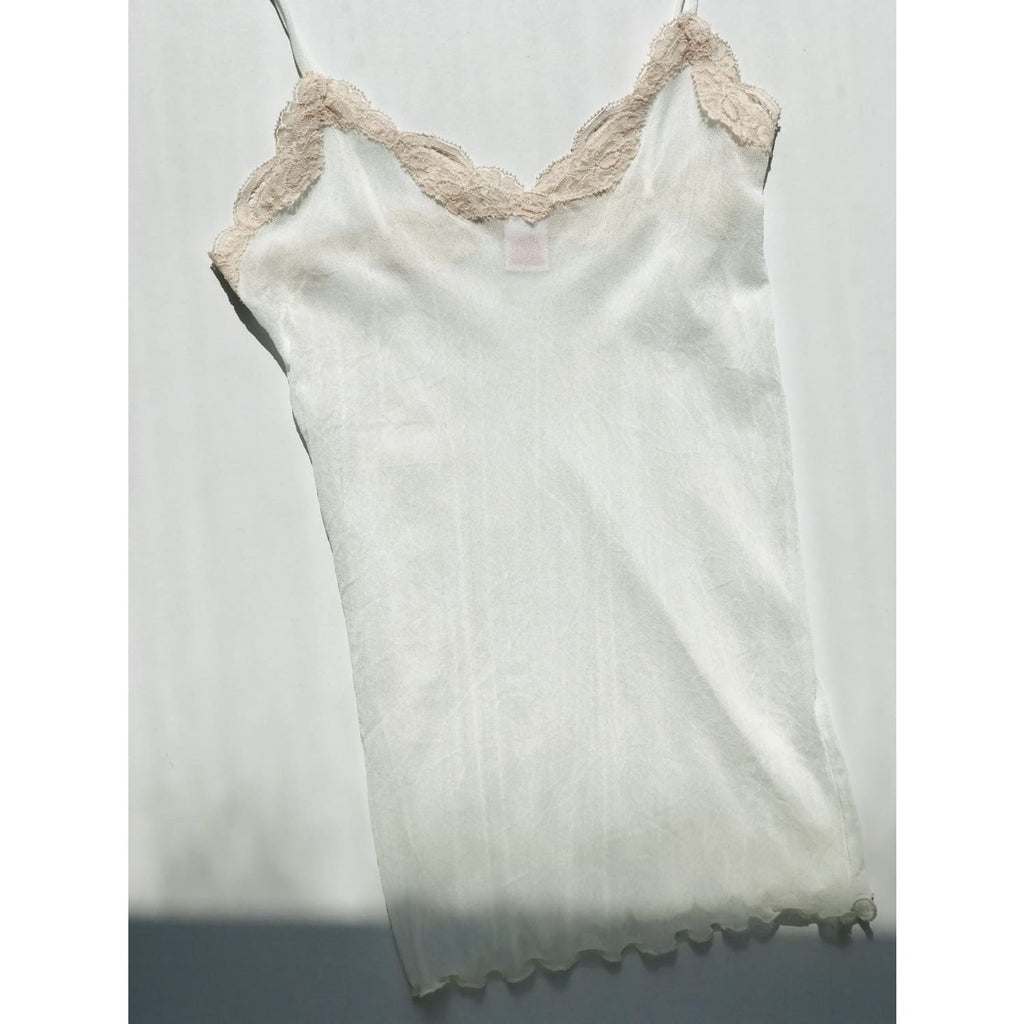 Only Hearts Tulle Lace Cami Creme/vintage,