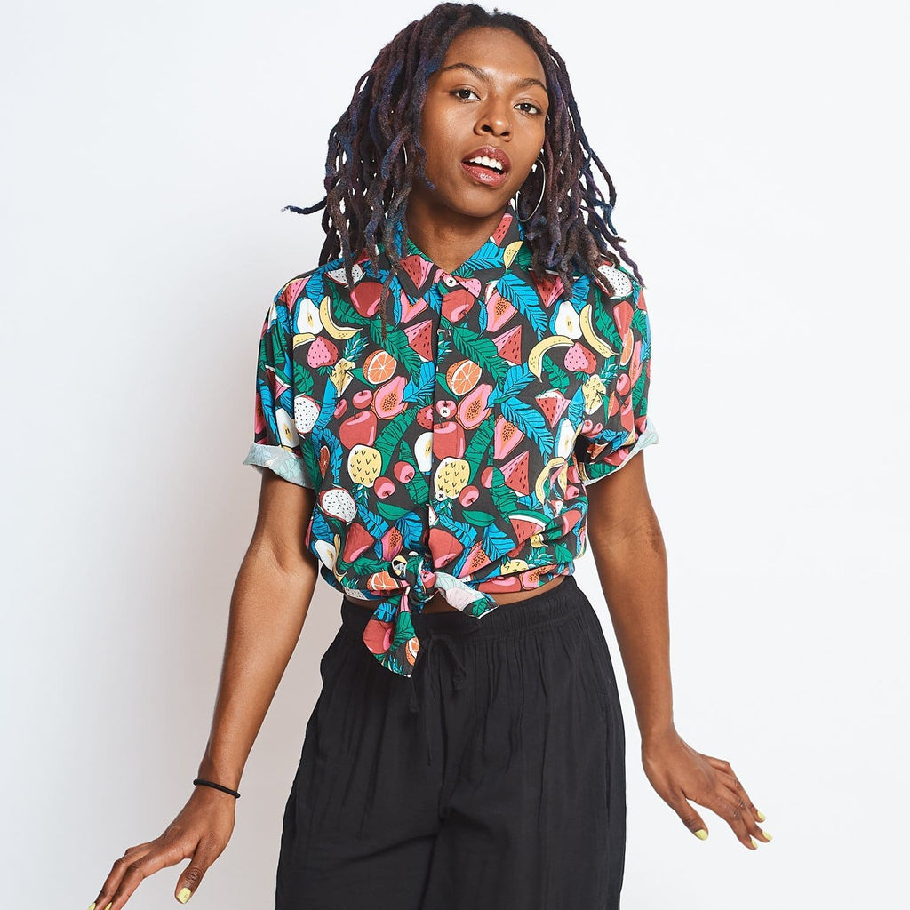 Holiday Button up - Black Fruit Barney Cools, Blouse, Button