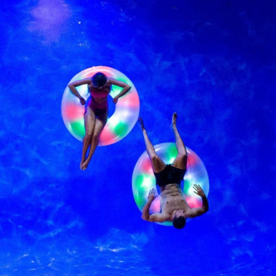 Illuminated Color Changing Pool Tube Light up Pool Float,