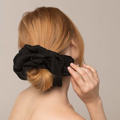 Large Black Scrunchie