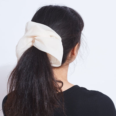Large Cream Scrunchie