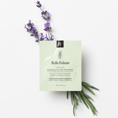 Lavender Sanitizing Gel with Moisturizer Bella Folium - Body