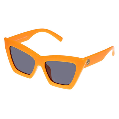 Le Specs Hathor Alt Fit Sunglasses - Neon Orange 90s,