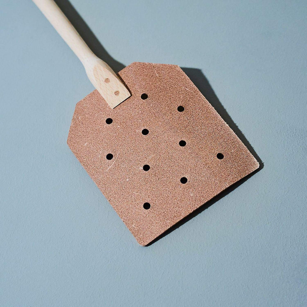 Leather Fly Swatter Deck the House in Redecker
