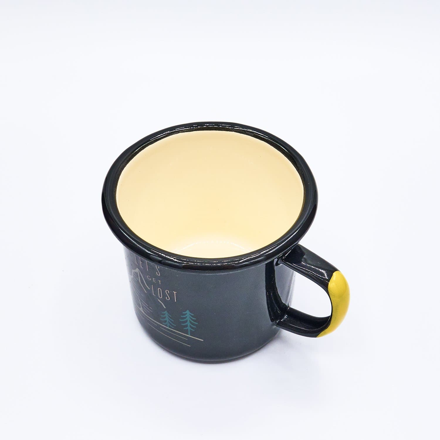 Get Lost Mug Black Enamel, Mug, Dishwasher Safe, Enamel Mug